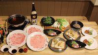 【2食付】ブランド豚「京丹波高原豚」と新鮮な京野菜をご堪能♪特製ダシで味わうしゃぶしゃぶプラン