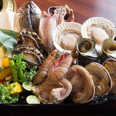 【1泊2食付き】丸ごと1個アワビ付き!お腹いっぱい海鮮まんぷくセットBBQ&朝食付きプラン