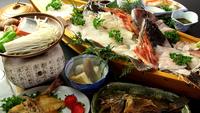 《欲張りさんはコレで決まり☆》獲れたて旬魚+大漁舟盛+若狭牛陶板焼【食の競演プラン♪】