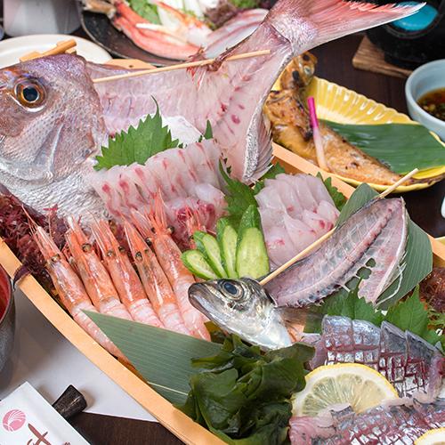【当館イチオシ!】お料理グレードアップ♪日本海の恵みを堪能◆舟盛り付◆漁師御膳