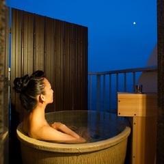 海が見えるツイン・露天風呂付き「アジアンテイスト」禁煙