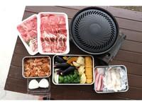 【【平日】滋賀牛&高島名物とり味付け&地元の食材バーベキューをテラスで/朝食配達/中コテージ