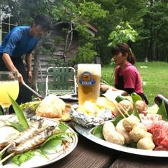 ひろーいお庭で昼からバーベキュー♪一泊三食付き手ぶらで昼BBQプラン