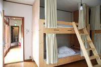 男女混合ドミトリー(2段ベッドが2つ入った相部屋です。)