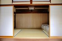 スタンダードルーム(個室、和室6畳と縁側。トイレ、シャワー共用)