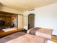 【露天風呂付客室】和洋室ツイン『洋間/畳』