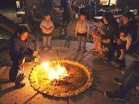 【火を囲んで、仲間と過ごす特別な時間】 たき火体験付き! 〜掘りごたつでお鍋プラン(1泊2食)〜