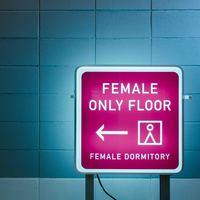 【女性専用ドミトリー】上下2段のカプセルタイプのバンクベッド