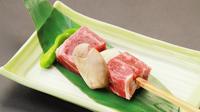 【グルメ企画第3弾】囲炉裏料理+熱々ジューシーな牛串を堪能【当館人気】