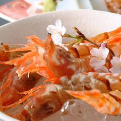 【春旅☆人気NO、1活桜エビの踊り付き】迫力満点!カニ刺、茹で、焼き、鍋、☆香住ガニ特選フルコース♪