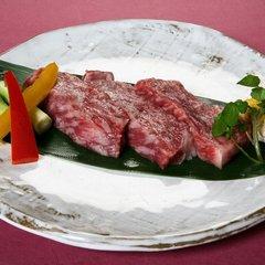 特選和牛ステーキと日本酒蒸篭蒸し付き会席☆貸切風呂無料