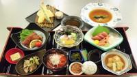 三陸の味を楽しむ夕食プラン《南三陸コース:天ぷら+フカヒレ付》