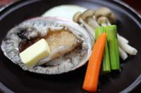 活造り・宝楽焼+伊勢エビ造り+アワビ陶板焼付コース