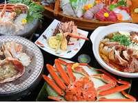 【超人気】アツアツ越前蟹1杯&刺・焼・鍋に舟盛付き◆梅◆