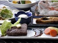 丹後産!魚介料理と国産和牛ステーキ付き潮風プラン