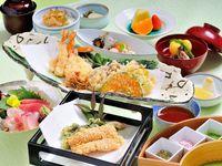 【2食付き】日本料理「四季」限定メニュー『天婦羅コース』×『海老名の朝食』