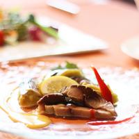 ジビエ料理【北海道産鹿肉のフルコース料理】  『2食付』 自慢の温泉は源泉掛け流しでリラックス♪