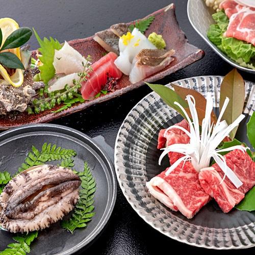 【◆*売れ筋<彩花>*◆】「旬魚」や萩のブランド牛「見蘭牛」・プリプリ「活き鮑」など4大味覚♪