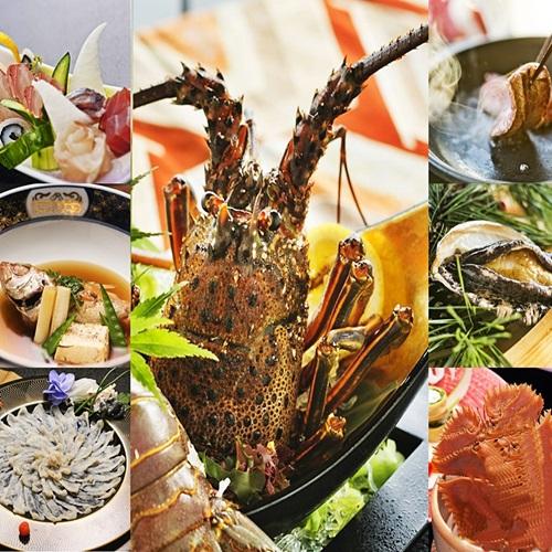 【◆*至極懐石*◆】<舞姫>「伊勢海老お造り」「活き鮑」「見蘭牛」「のどぐろ」「虎河豚」など7大美味