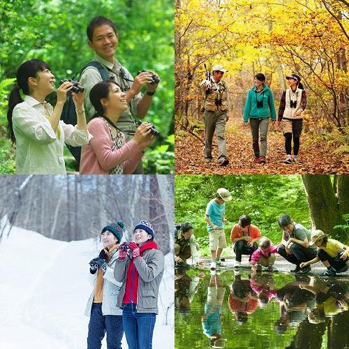 【軽井沢・野鳥の森で自然体験】不思議に出会うガイドツアー&美肌の湯 70品目の信州上州名物バイキング