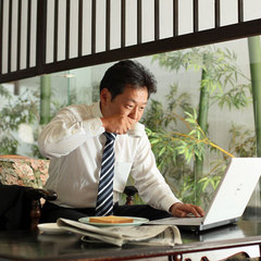 ビジネス&出張QUOカード付き♪24時間入れる大浴場と10畳の和室!日替わり手作り朝食付き7500円