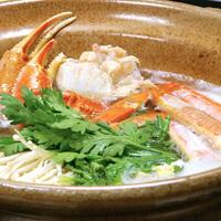 ★1日5組限定★【カニ鍋】リーズナブルに蟹を愉しもう!境港産の松葉ガニが12,000円〜♪