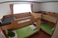 小グループ向けの部屋(4名様ドミトリータイプ)