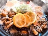 ▼期間限定▼о。牡蠣食べ放題冬のほっこり尾道風海鮮レモン鍋プラン。о【ワンドリンクサービス】
