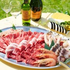 【夏のガーデンBBQ】お子様歓迎☆特選BBQ×プール×海で夏を満喫!伊勢海老・鮑もあるよ♪