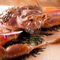 【蟹三昧コース】日本海に来たなら★カニ約2.5杯分♪カニは刺し/焼き/鍋/茹で♪
