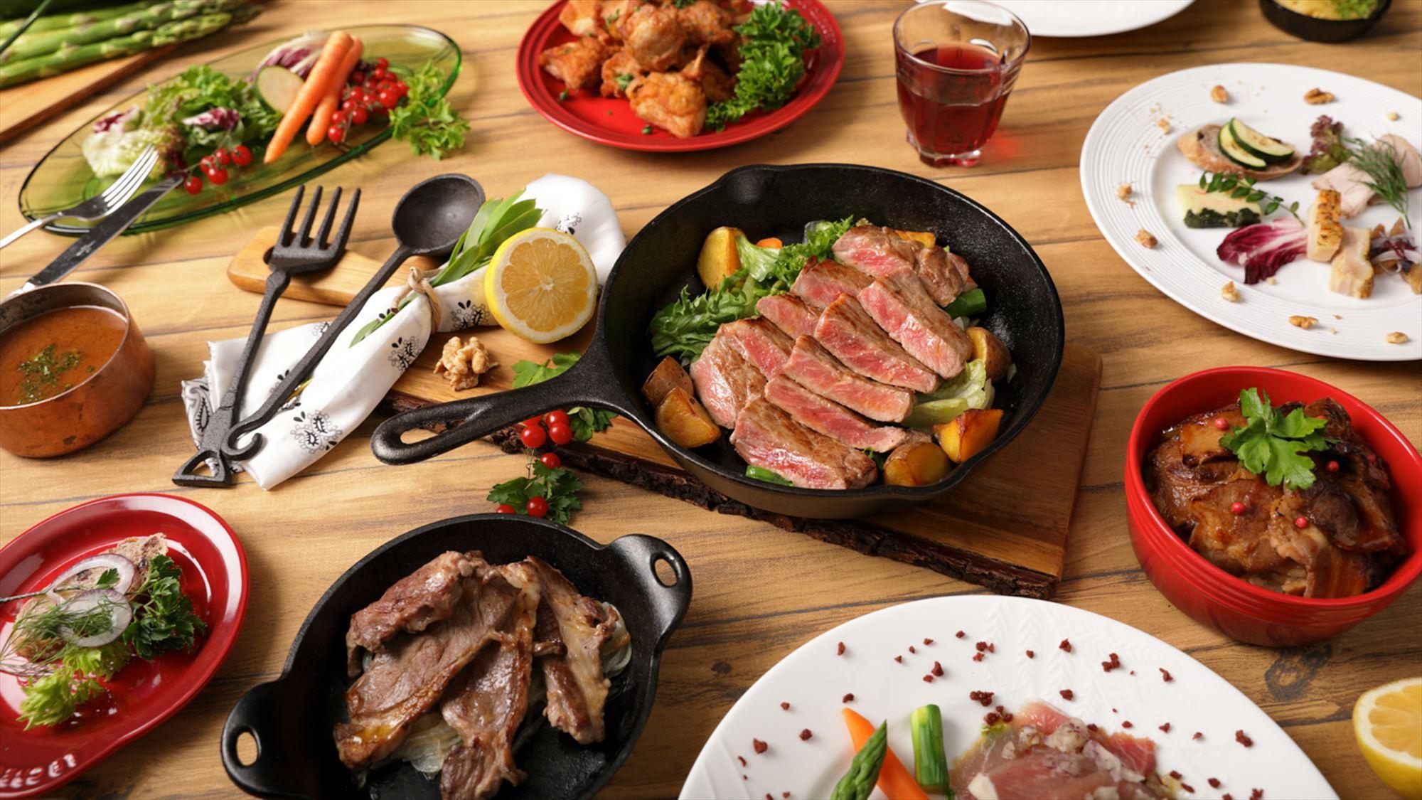【スタンダード|夕朝食付】ビュッフェ満喫!肉の食べ比べや海鮮丼など北海道の味覚を堪能(6-10月)
