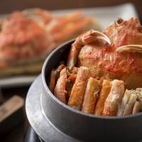 【500gタグ付き越前蟹満喫コース】メインは蟹刺しorゆで蟹から1人毎にチョイス!蟹料理満載♪