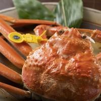 【1kg級●タグ付き特大越前蟹会席コース】茹で蟹・お造り・蟹すき鍋がズラリと並ぶ贅沢会席!