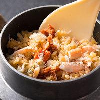 【1kg級●タグ付き特大越前蟹満喫コース】メインは蟹刺しorゆで蟹から選べる!蟹すき鍋・せいこ釜飯も