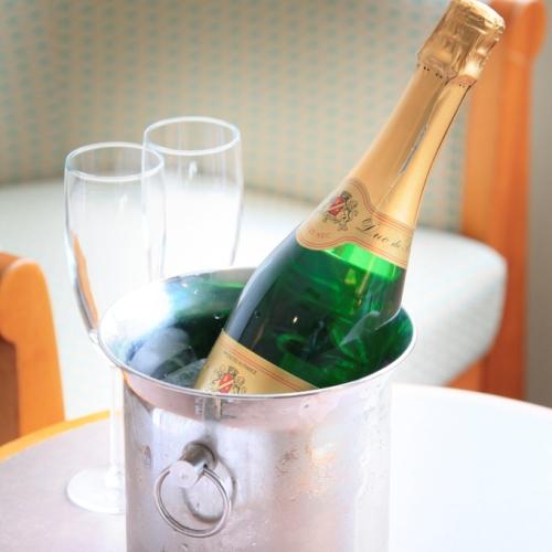 【ご夫婦・カップルにオススメ】貸切湯&上層階&スパークリングワインなど4つの特典『二人の特別な休日』
