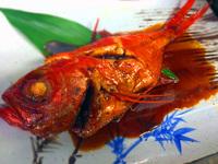 【金目鯛煮つけ】1泊2食付き【新鮮なお魚盛りだくさん】