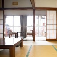 喫煙可【本館1階】テラス付和室/バス・トイレ付 (5名定員)