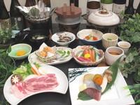【1日5組限定】 <春・味覚スペシャル>「ズワイガニ」「蔵王和豚のすき焼き」「春菜と鶏団子の白湯鍋」