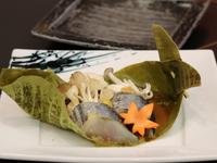 <おすすめ会席>「旬魚と旬菜の朴葉みそ焼き」「国産牛のすき焼き」「季節の釜飯」<全12品>