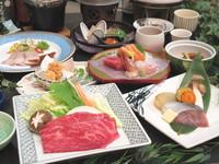 <さんさ亭のGW②> 「仙台牛のすき焼き」「お造り四種」「鶏団子の白湯鍋」の自慢の会席