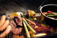 湖畔でグランピングキャンプ夕食BBQ朝食付宿泊♪7月〜10月