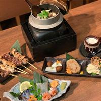 炭火焼き、旬鮮料理、地魚!岩国緑家の料理堪能コース!(素泊まり)◆駐車場無料(先着順)