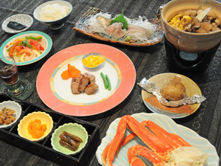 きのこ鍋コース(夕朝食付)/Mushroom hot pot course(Half board)