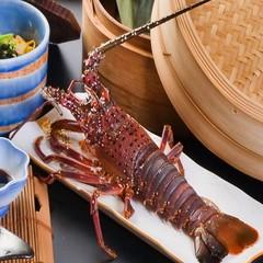 <国産伊勢海老丸ごと一匹&アワビ+神戸牛+新鮮地魚姿盛り>【プレミアム会席】