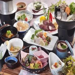 【夕食のみ】神戸牛ステーキ&県魚の郷土鍋が付いた懐石A♪天然温泉&足湯でリフレッシュ☆
