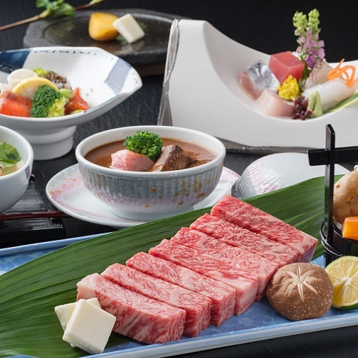 ★LoveBeef★美味しい肉が食べた〜い【鳥取ブランド牛】厳選!鳥取県産黒毛和牛石焼きステーキ会席
