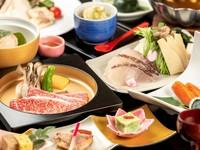 【露天風呂付客室】春の味覚、桜鯛の味鍋と近江牛陶板焼きがメインの会席プラン