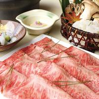 【しゃぶしゃぶ会席/2食付】旨みあふれるお肉を堪能★特選 和牛180gしゃぶしゃぶコース