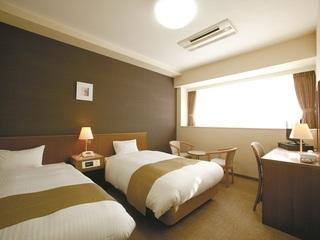ツインルーム禁煙 シングルベッドが2台 無線LAN接続無料