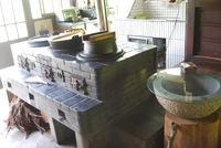 囲炉裏で網焼きの晩御飯と朝御飯  京都の田舎の古民家で暮らすような体験